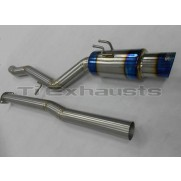 Ti Exhausts Titanium Exhaust Mitsubishi EVO X Single Exit
