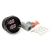 Haltech Wideband O2 Dual Channel Gauge Black Bezel with White LED Display